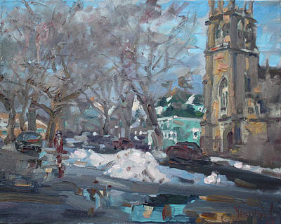 Niagara Falls Painting - Snow Day At 7th St By Potters House Church by Ylli Haruni