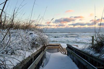 Snow Day At The Beach Art Print