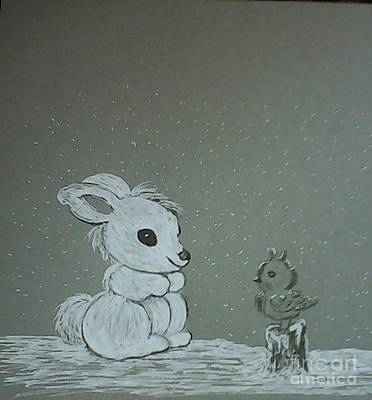 Drawing - Snow Day by Ginny Youngblood