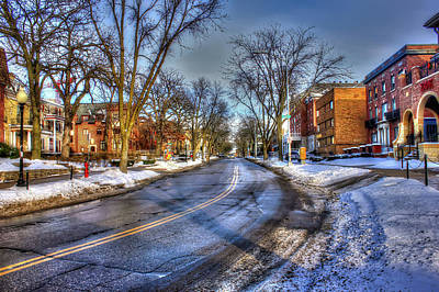 Slushy Photograph - Snow Day In Madison Wisconsin by Yinan Chen