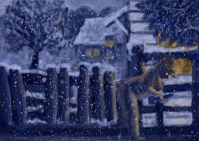 Digital Art - Snow Day by Larry Whitler