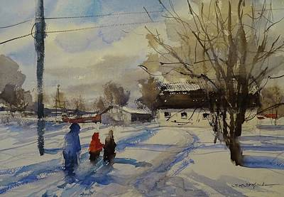 Painting - Snow Day by Sandra Strohschein