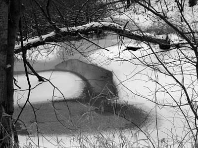 Indiana Landscapes Photograph - Snow Detail by Michael L Kimble