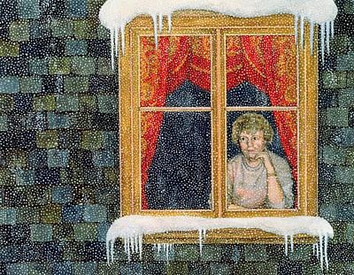 Brick Painting - Snow by Ditz