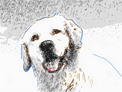 Snow Dog Art Print by Laura Brightwood
