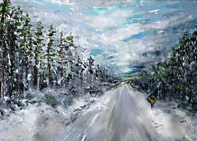 Painting - Snow Drift by Desline Vitto