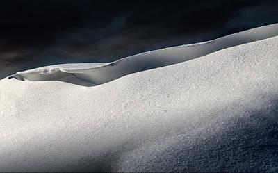 Snow Drifts Digital Art - Snow Drift On The Beach by William Bader