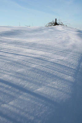 Photograph - Snow Drift Shadow Cast by Dylan Punke