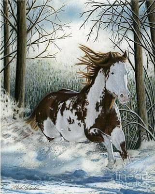 Painting - Snow Driftin', Pastel by Barb Schacher