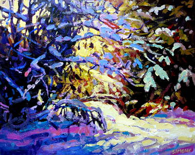 Snow Painting - Snow Drive 4 by Brian Simons