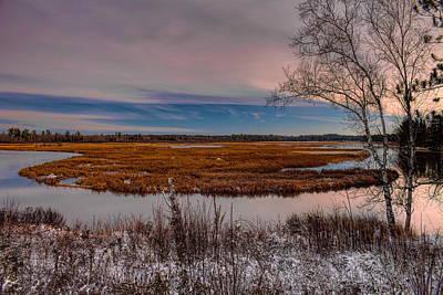 Photograph - Snow Dusted Marsh by Dale Kauzlaric