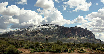 Photograph - Snow Dusted Superstitions  by Saija Lehtonen