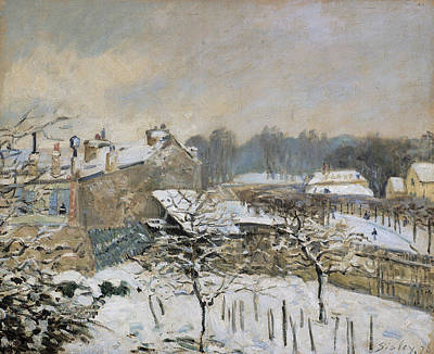 Blizzard Painting - Snow Effect At Louveciennes by Alfred Sisley
