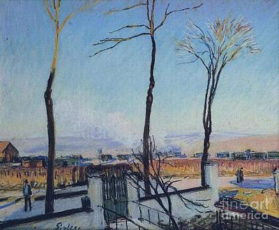 Day Painting - Snow Effect At Moret by MotionAge Designs