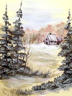 Painting - Snow Everywhere by Dorothy Maier