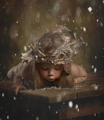 Snow Fairy Photograph - Snow Fairy 2 by Lori Lynn