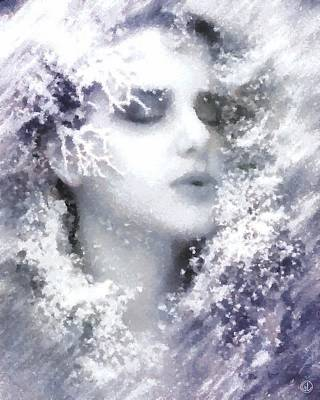 Digital Art - Snow Fairy  by Gun Legler