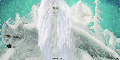 Digital Art - Snow Fairy by Larry Rice