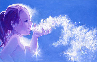 Snow Fairy Painting - Snow Fairy  by Neil Feigeles