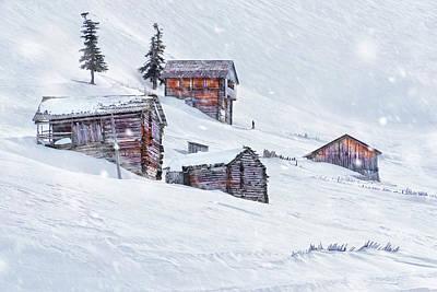 Snow Fall Art Print by Svetlana Sewell