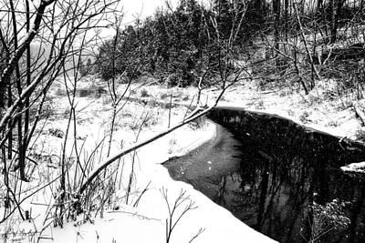 Snow Falling On Black Creek Original by Phill Doherty