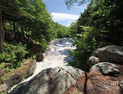Photograph - Snow Falls Gorge, West Paris, Maine #00035 by John Bald