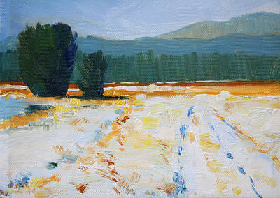 Painting - Snow Field by Nancy Merkle