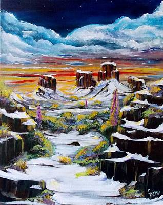 Painting - Snow Fine by Chuck Kemp