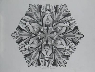 Snow Flake Drawing - Snow Flake 1 by Nadine Unzicker