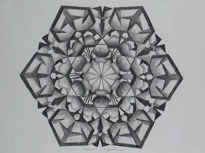 Snow Flake Drawing - Snow Flake 2 by Nadine Unzicker