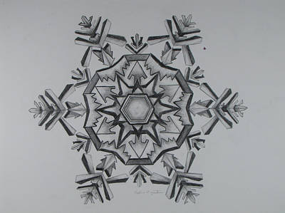 Snow Flake Drawing - Snow Flake 4 by Nadine Unzicker