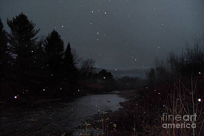 Photograph - Snow Flakes By Little River Stowe Vermont by Felipe Adan Lerma