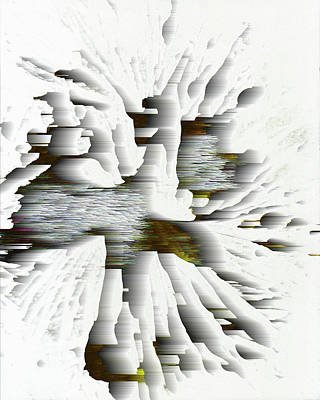 Digital Art - Snow Flake In The Wind #5 by Kris Haas