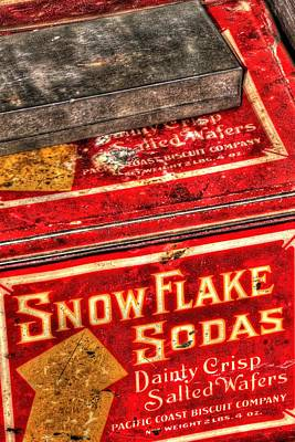 Jerry Sodorff Royalty-Free and Rights-Managed Images - Snow Flake Sodas 767 by Jerry Sodorff