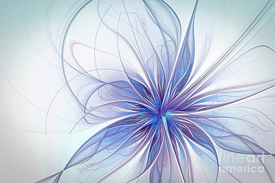Computer Generated Flower Photograph - Snow Flower by Kira Yan