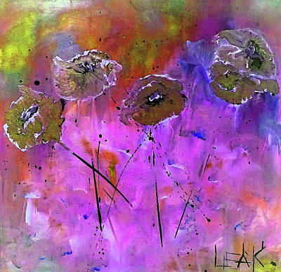 Snow Flowers Art Print
