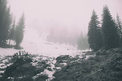 Photograph - Snow Fog Rocks And Silence by Kunal Mehra