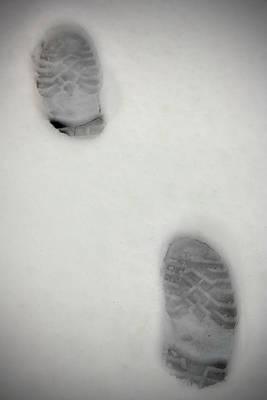 Snowy Day Mixed Media - Snow Footprints by Boyan Dimitrov