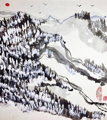 Painting - Snow Forest by Casey Shannon