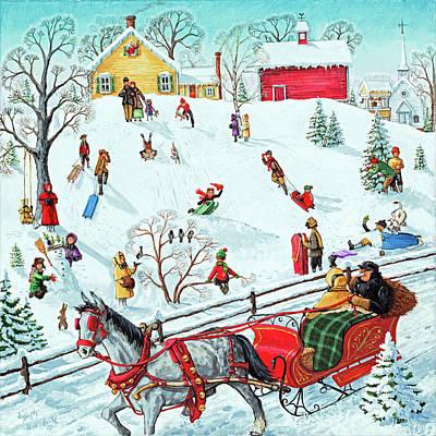 Painting - Snow Fun by Joseph Holodook