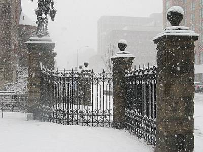 Balck Art Photograph - Snow Gate by Alfred Ng