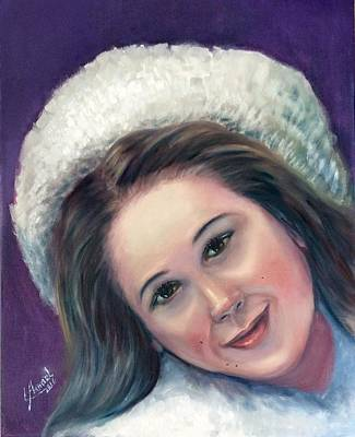 Painting - Snow Girl  by Laila Awad Jamaleldin