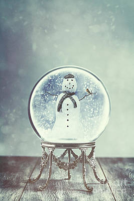 Hand Carved Photograph - Snow Globe by Amanda Elwell