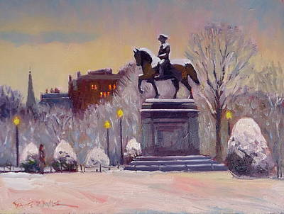 Painting - Snow Glow by Dianne Panarelli Miller