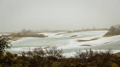 Photograph - Snow Golf Course by Mark Spomer