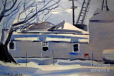Snow Grain And Sleet Double Matted Art Print by Charlie Spear