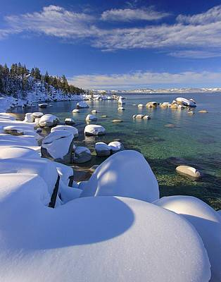 Photograph - Snow Hearts In Lake Tahoe by Sean Sarsfield