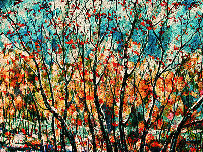 Painting - Snow In Autumn by Natalie Holland