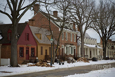 Photograph - Snow In Colonial Williamsburg  by Lara Morrison