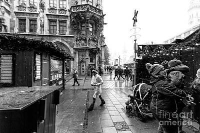 Photograph - Snow In Marienplatz by John Rizzuto